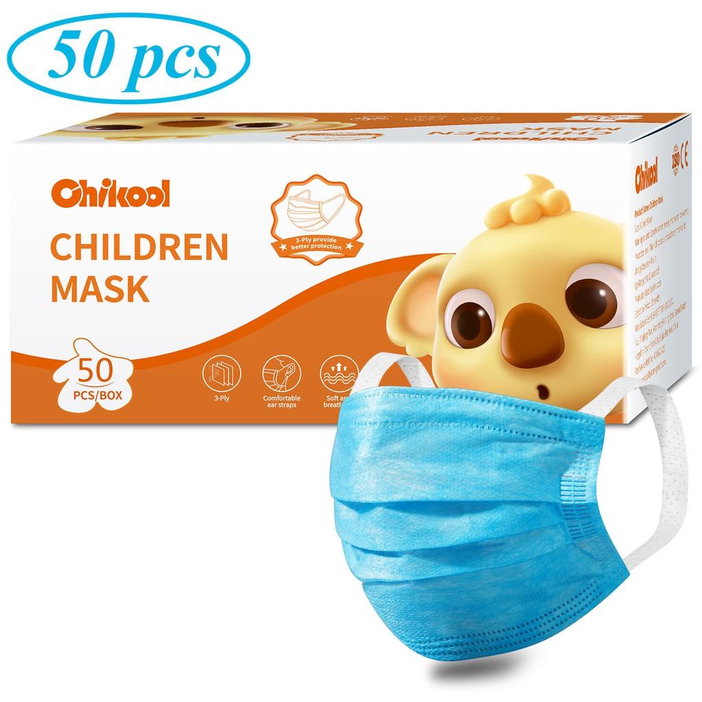 Chikool Children\'s 3 Ply Face Mask 50pcs