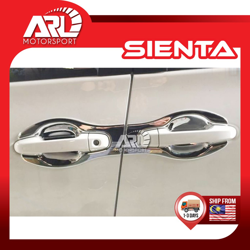 Toyota Sienta XP170 Outer Door Handle Cover Protector Chrome Door Bowl Protector Car Auto Acccessories ARL Motorsport