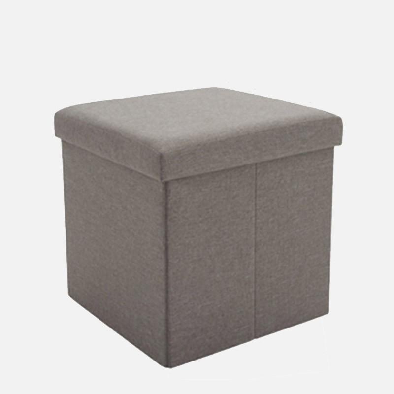 Square Multipurpose Storage Box Stool (Dark Brown)