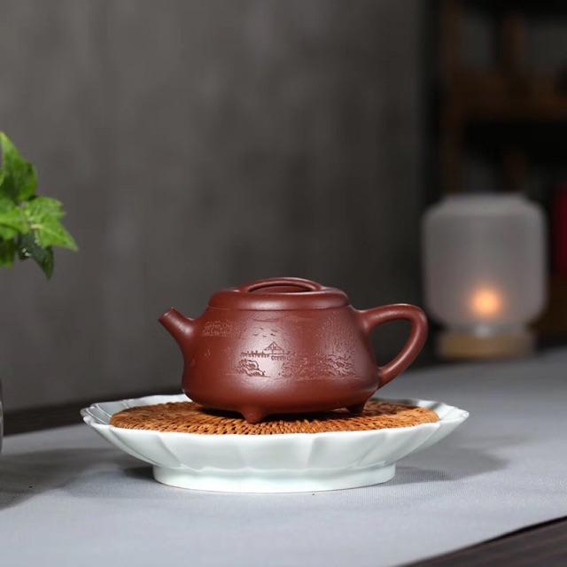 "Chinese Yixing Zisha Clay Handmade /""Rongtian/"" Teapot 180cc Good Clay"