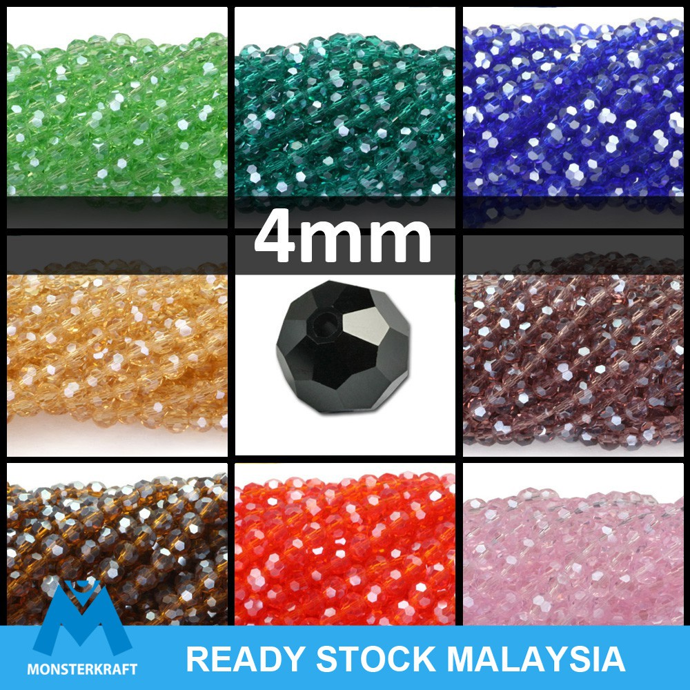 DIY Jewelry Faceted 70pcs 6*8mm Crystal Faceted Loose Beads Gold champagne AB