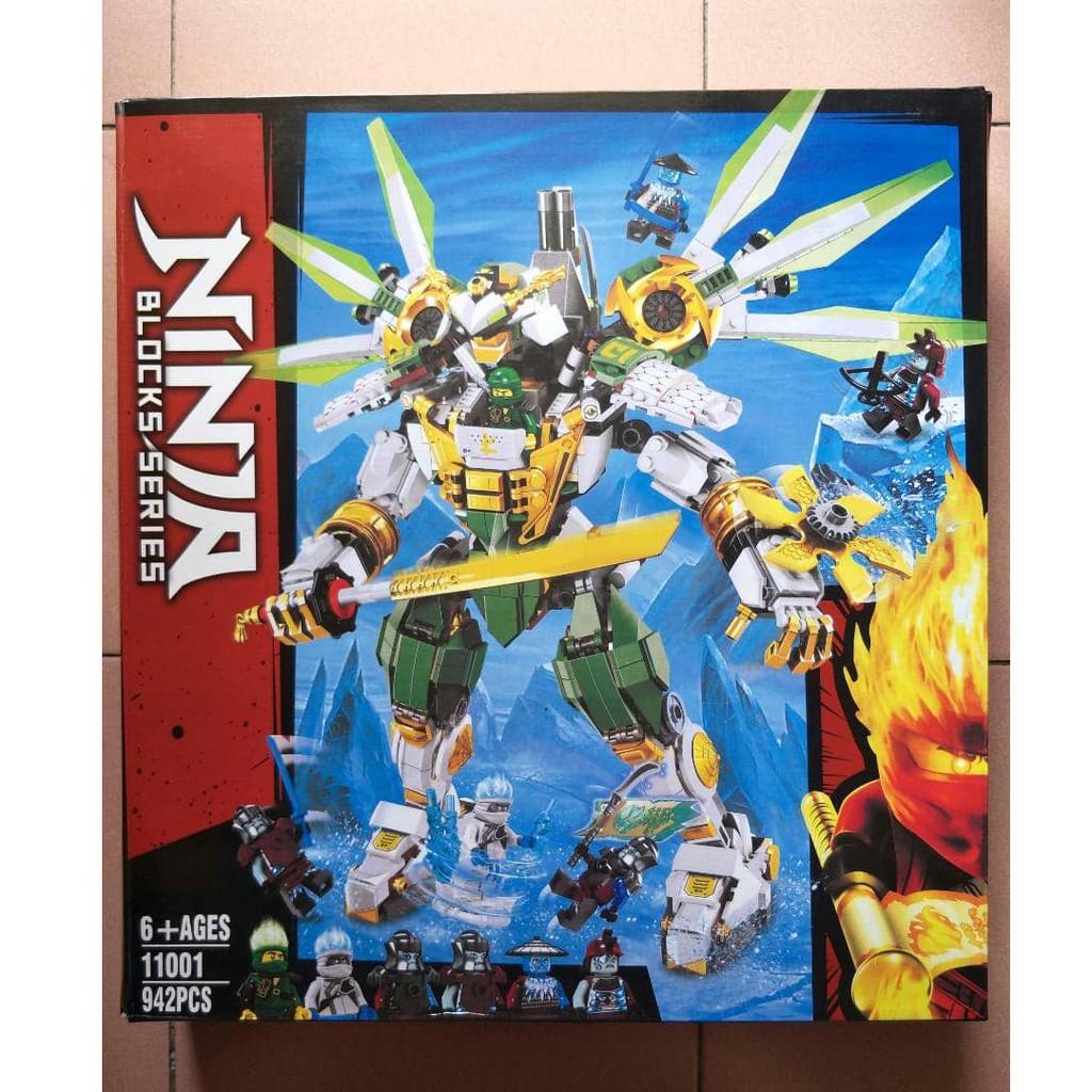 Ninjago Lloyd S Titan Mech 70676 Compatible Building Blocks Shopee Malaysia