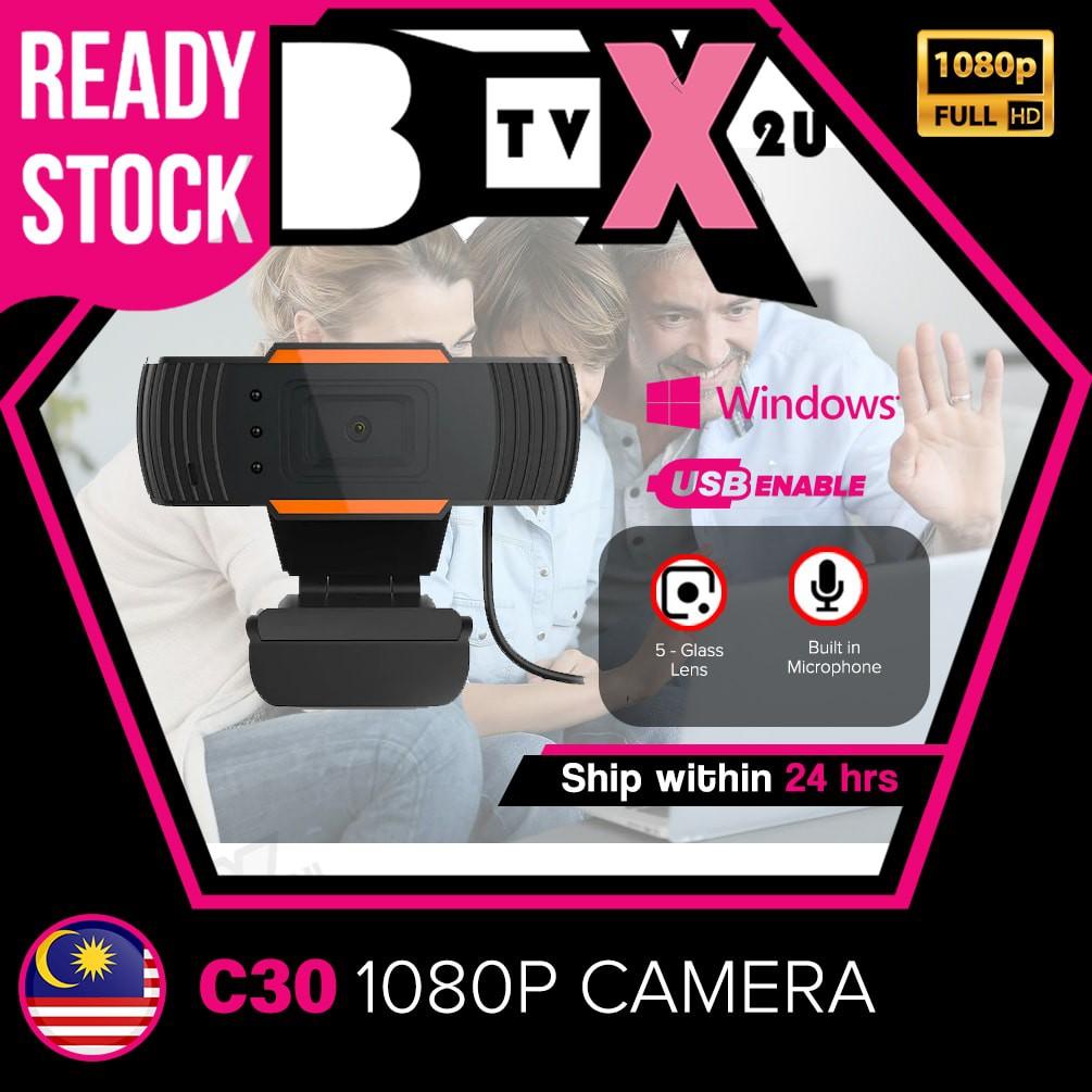 [New] Webcam C30 Full HD 2k 1080P Digital webcam pc camera PC computer Laptop Built-in MIC Mini Camera 1.2.0M Pixels