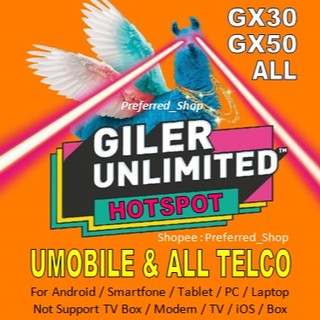 100% ORIGINAL & GENUINE 👍🌟 UMOBILE UNLIMITED INTERNET DATA HOTSPOT!! ALL  TELCO SUPPORT |
