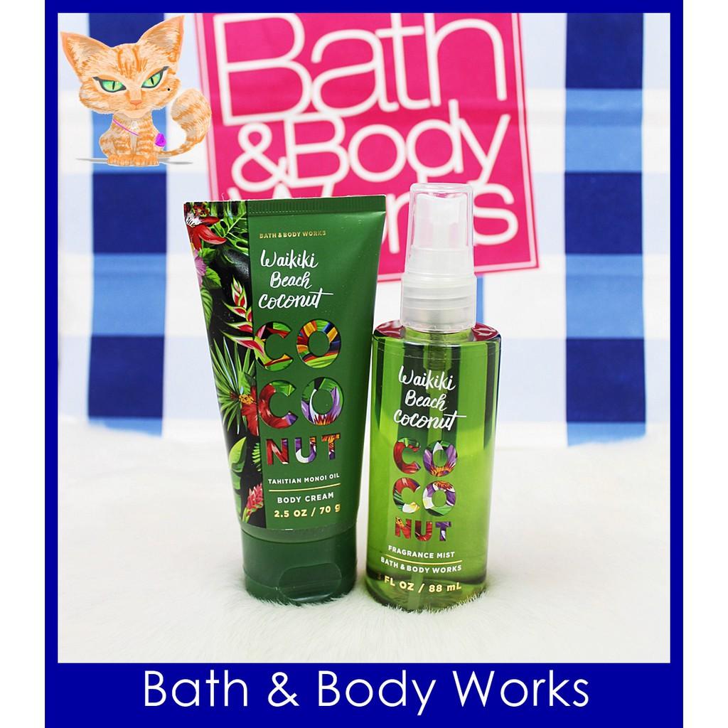 Bath Body Works Waikiki Beach Coconut Body Mist Cream