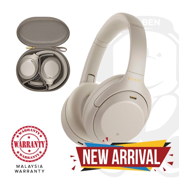 Sony WH-1000XM4 Bluetooth Active Noise Cancelling 30 Hours Battery Life Over-Ear Headphones [Jaben] XM4 WH 1000XM4