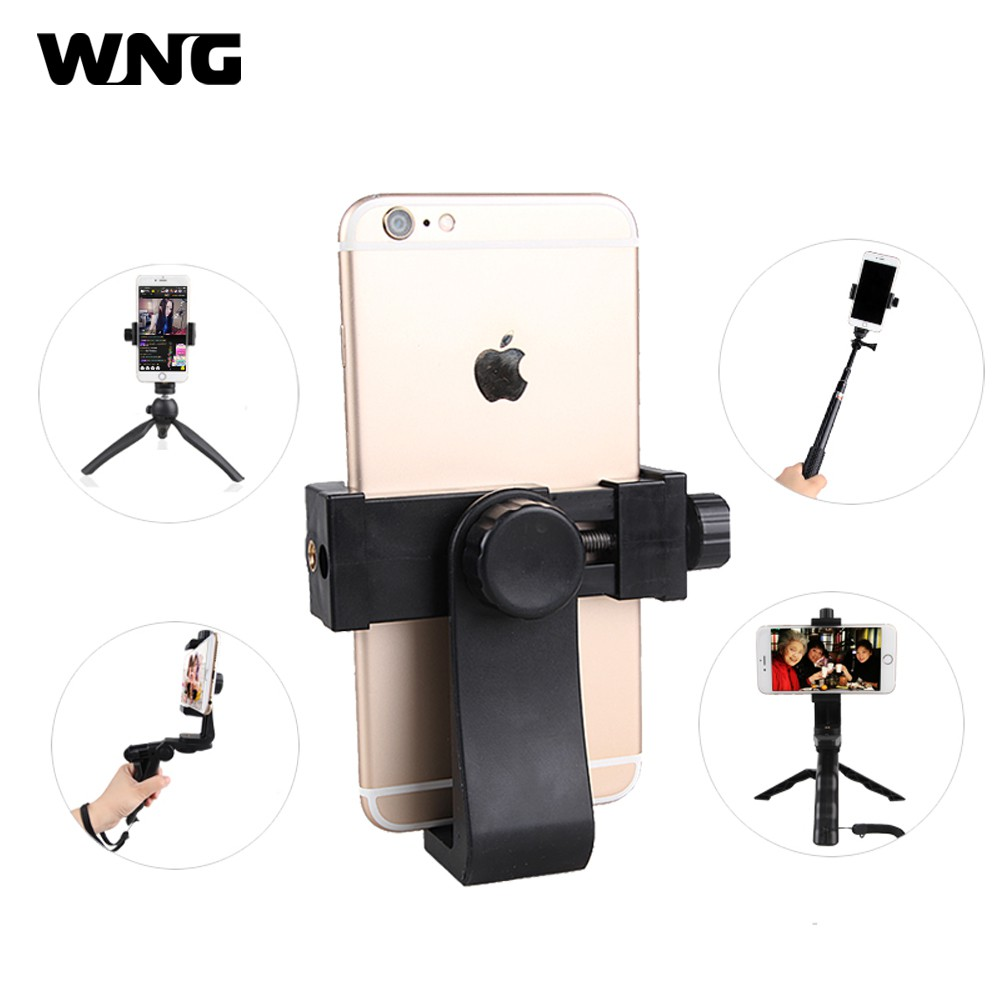 Smartphone Tripod Mount 360° Rotation Phone Clipper Holder for Huawei Oppo