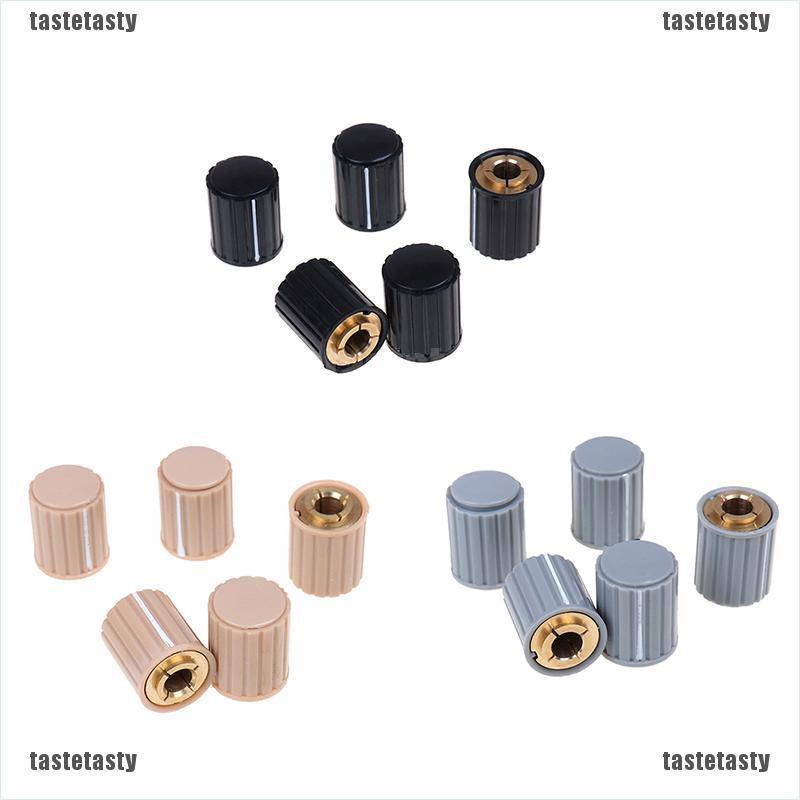 5pcs NEW  KYZ20-16-6 20*16*6mm Plastic Gray Potentiometer Knob Cover Cap