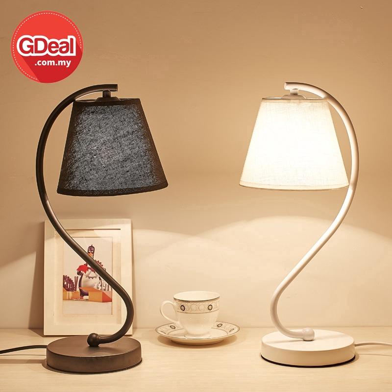GDeal Simple Decorative Living Room Bedroom Nordic LED Bedside Table Lamp Lampu Tidur لمڤو تيدور