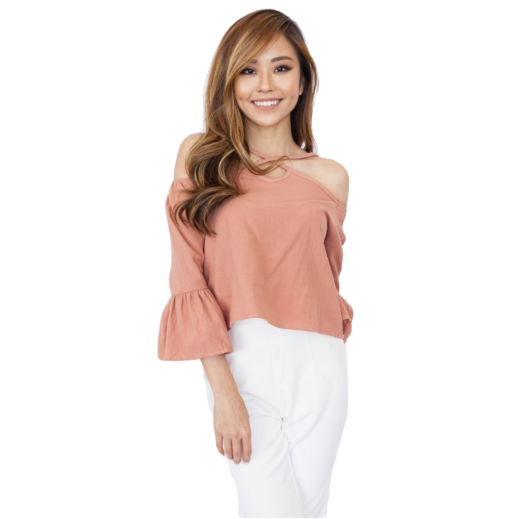 4f3acc9a2d0 Hook Clothing Cross Front Off Shoulder Top | Shopee Malaysia
