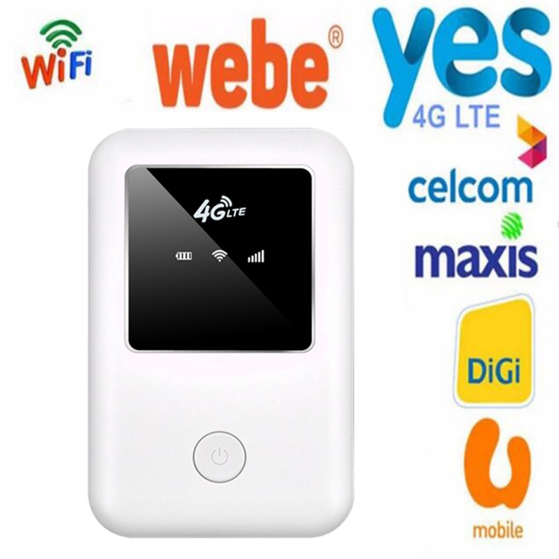 4G Lte Wifi Router Car Mobile Hotspot Mifi Unlocked Modem Wireless Broadband