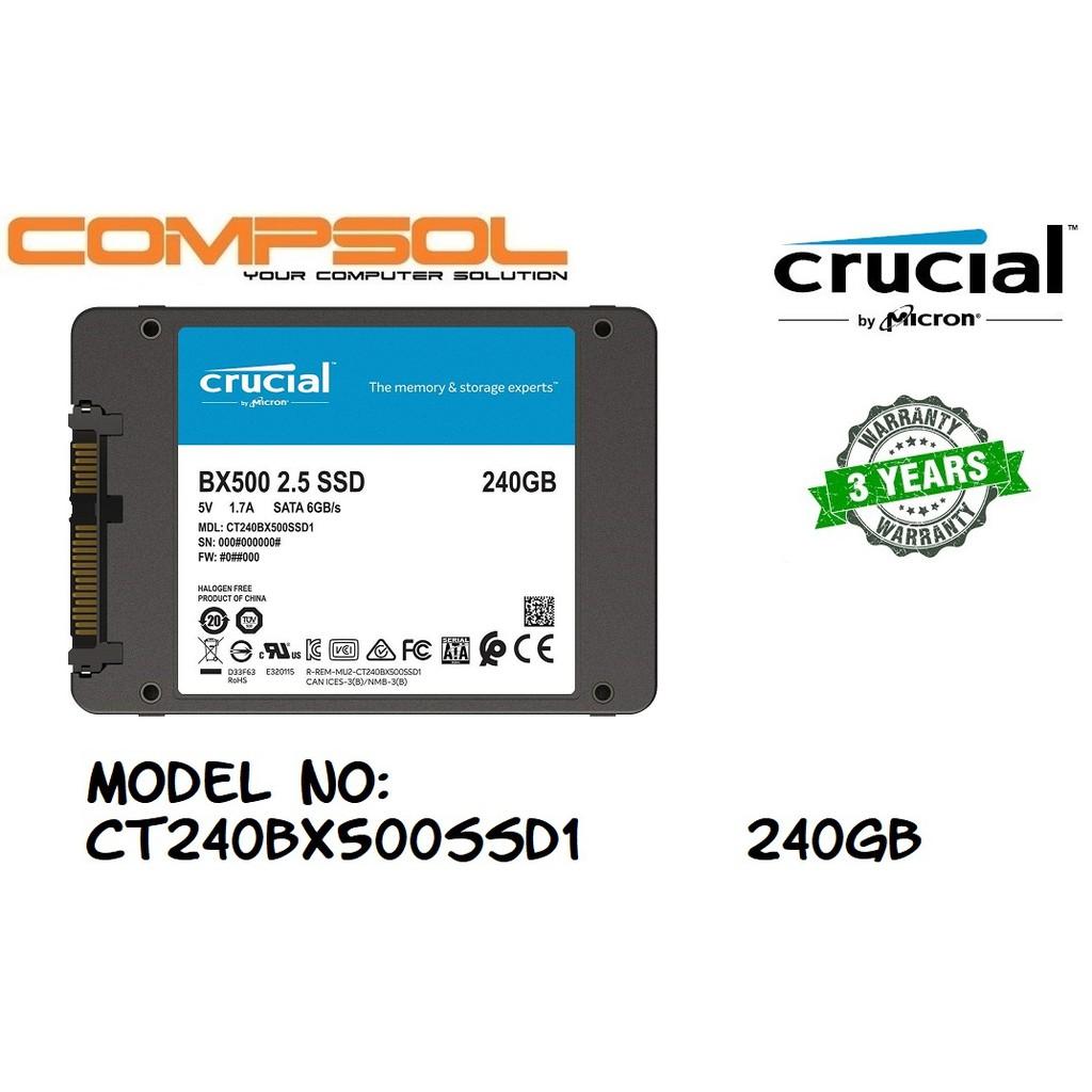 Crucial BX500 240GB 2 5