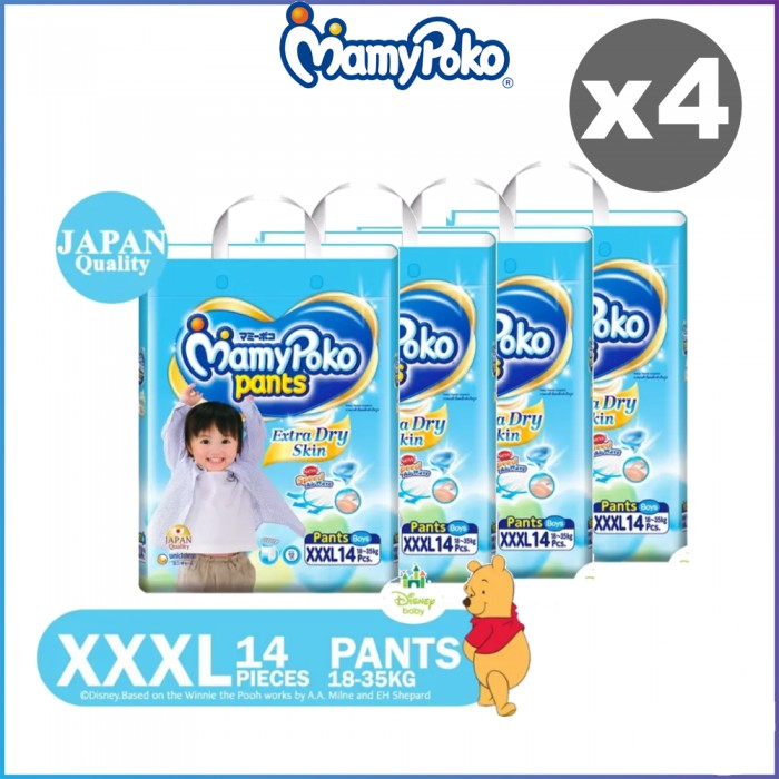 Mamypoko Extra Dry Skin Pants XXXL14 (BOYS & GIRLS) x 4 packs