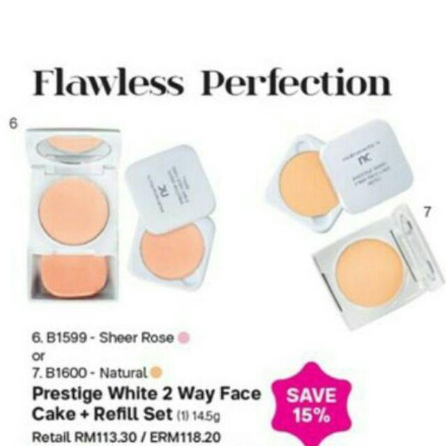 Prestige White 2Way Face Cake Refill Twin set 1pcs
