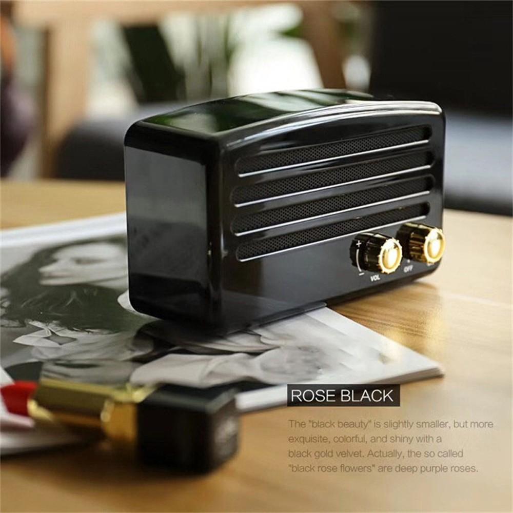 Retro Bluetooth Speaker Bass Stereo Knob Supports TF Memory Card FM