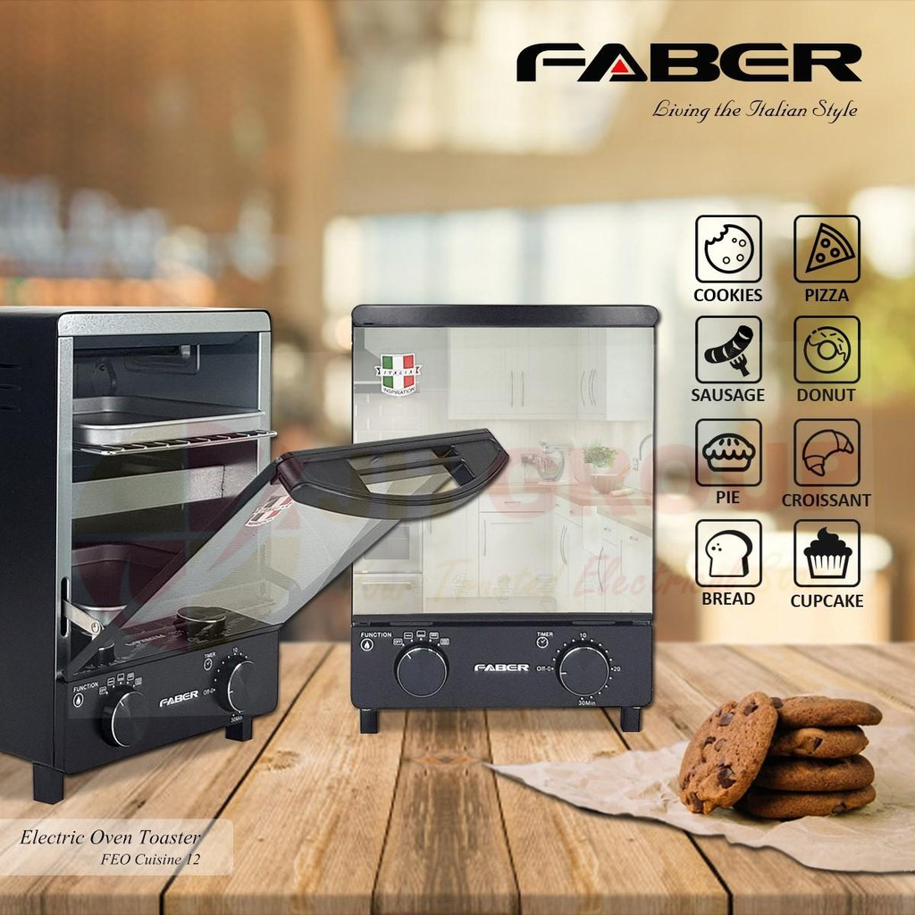 FABER Electric Oven Toaster FEO CUISINE 12 BG/BK