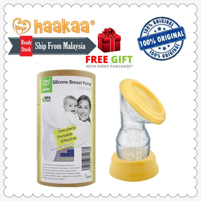 Haakaa Silicone Breastpump Milk Collector  Shopee Malaysia-9937