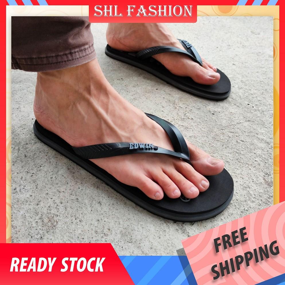 SHL KL Men's Summer Fashion Outdoor Waterproof Flip Flop Sandals Selipar fesyen kasual luar lelaki