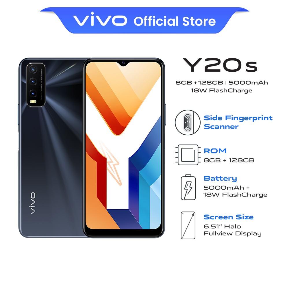 "vivo Y20s Smartphone | 8GB + 128GB | 6.51"" LCD | 5,000mAh + 18W FastCharge | 13MP AI Triple Macro Camera"