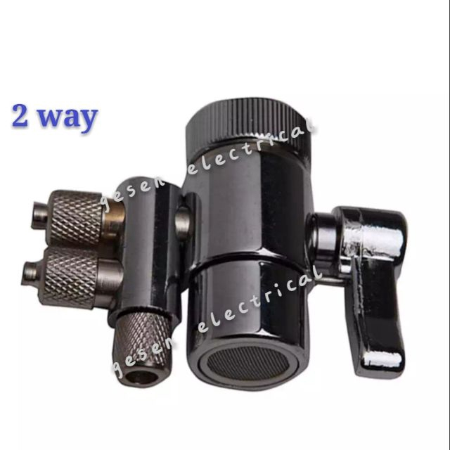 2 way stainless steel water filter diverter valve for 1/4 hose pipe filter