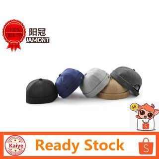 fc76f7489 👍Ready Stock Men Women Brimless Hip Hop Cap Solid Color Beanie Hat ...
