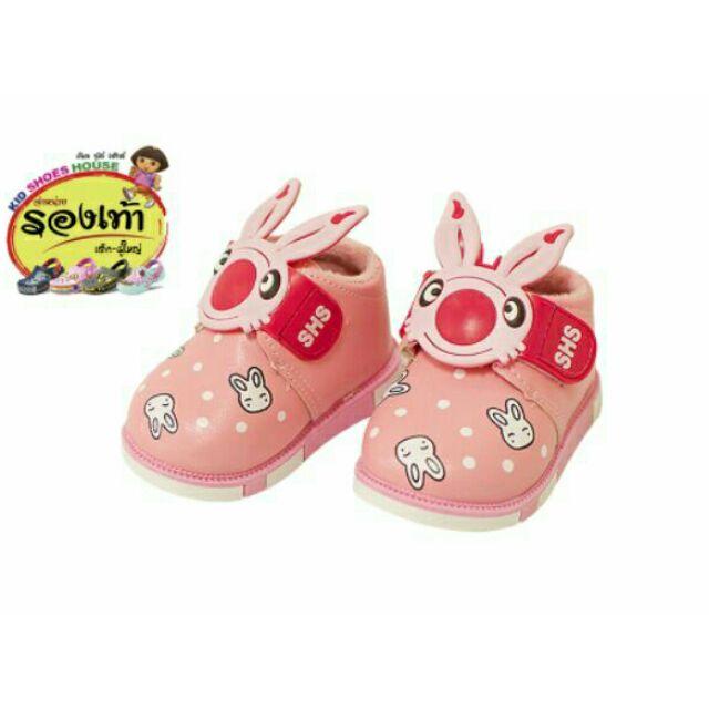 ✅พร้อมส่ง รองเท้าเด็กหญิงลายกระต่ายนุ