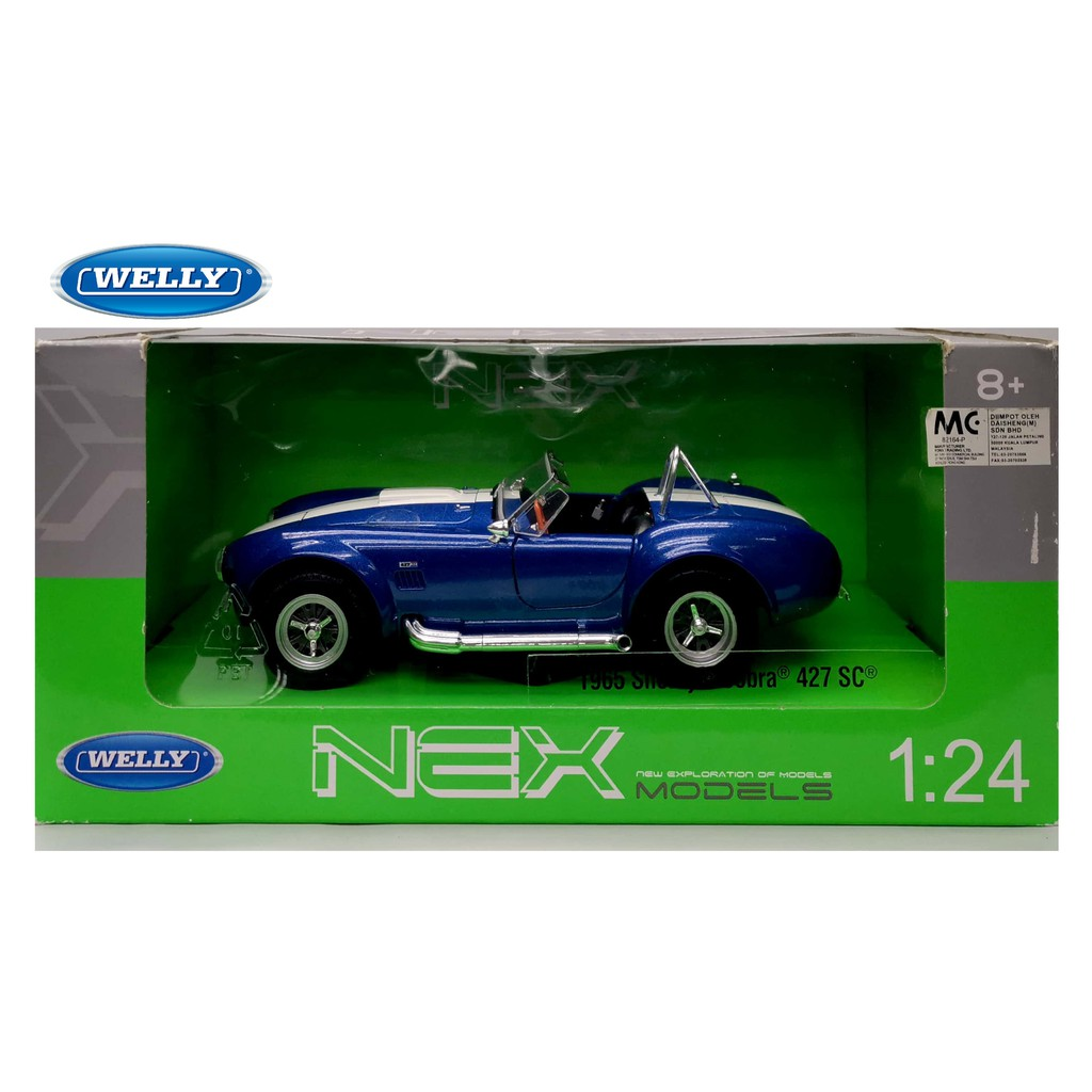 WELLY 1:24 METAL DIE CAST 1965 SHELBY COBRA 427SC (BLUE) MODEL COLLECTION 24002W