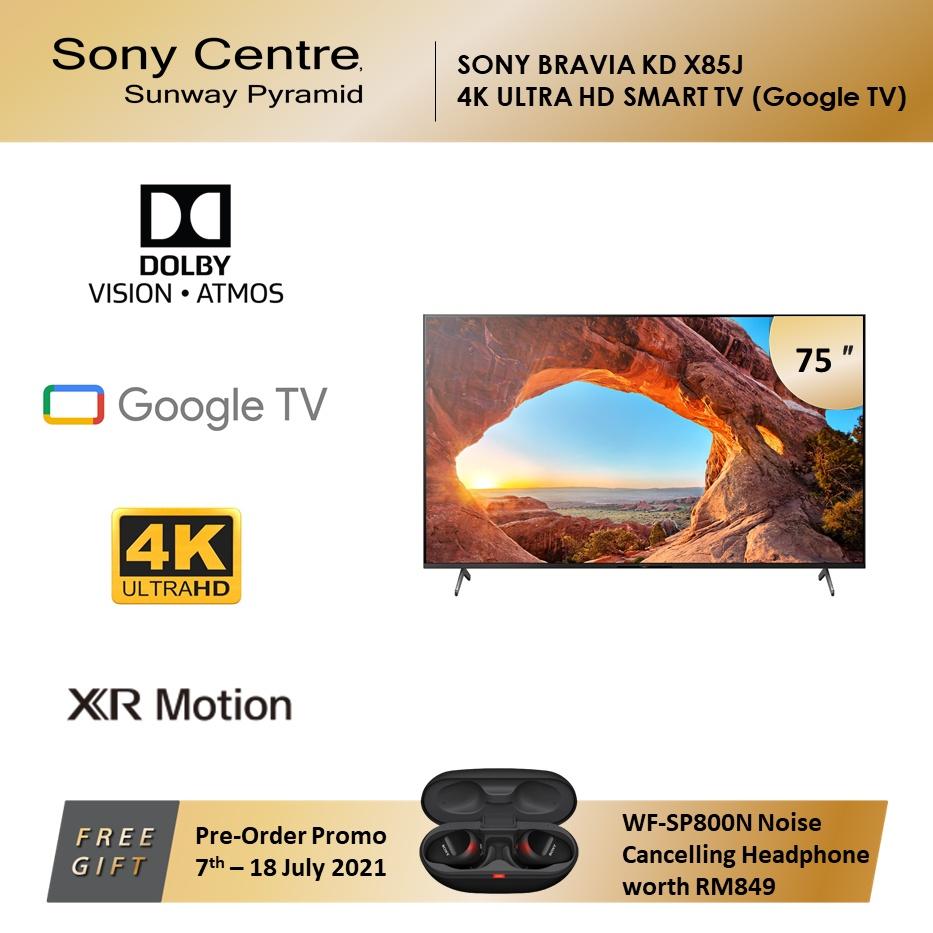 "SONY BRAVIA KD X85J Full Array LED 4K Ultra HD High Dynamic Range HDR Smart TV Google TV (75"") KD-75X85J"