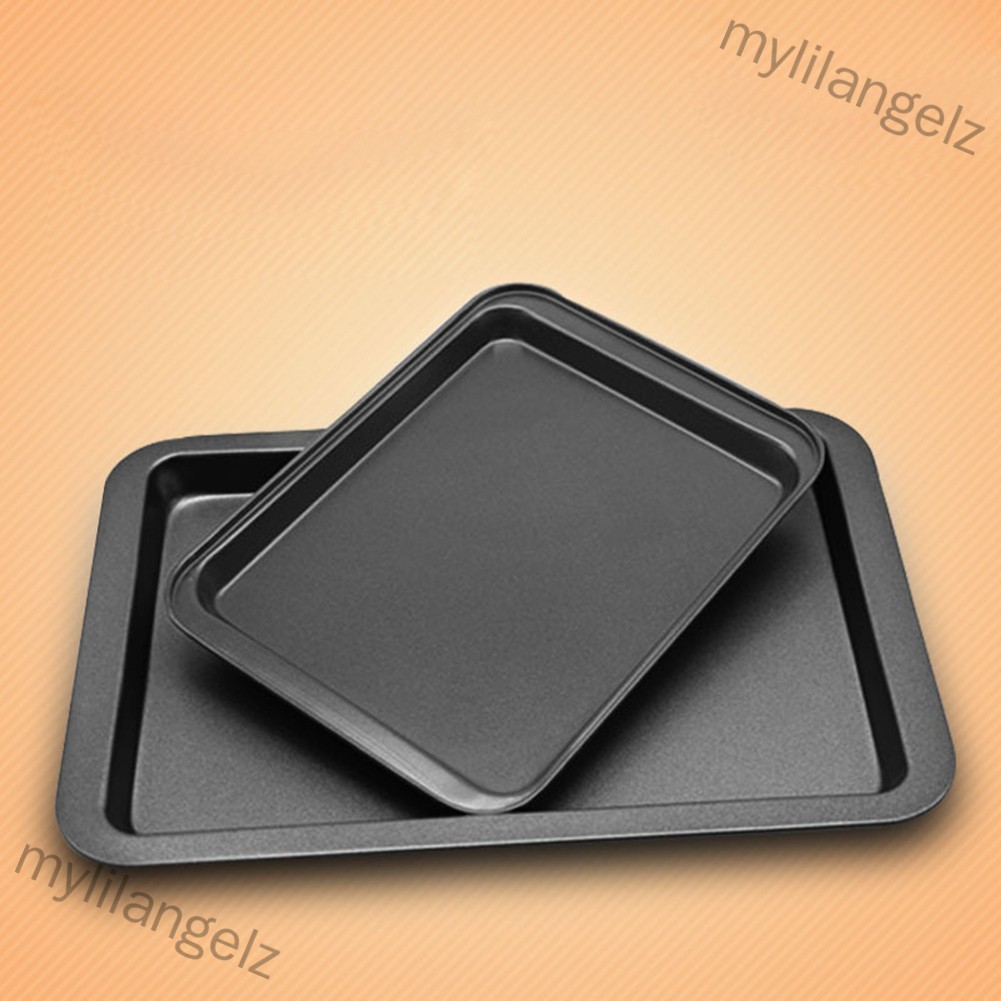 Mylilangelz Rectangle Baking Sheet Homemade Cooking Bakeware Non-Stick Coating Cake Pizza Bread Making Plate Pan Ovenwar