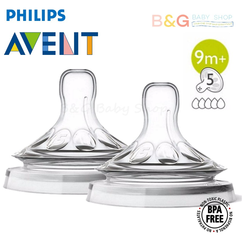 Avent Natural Grown Up Flow Teat 9m+ (5 Holes) (2pcs/pack) | Shopee Malaysia