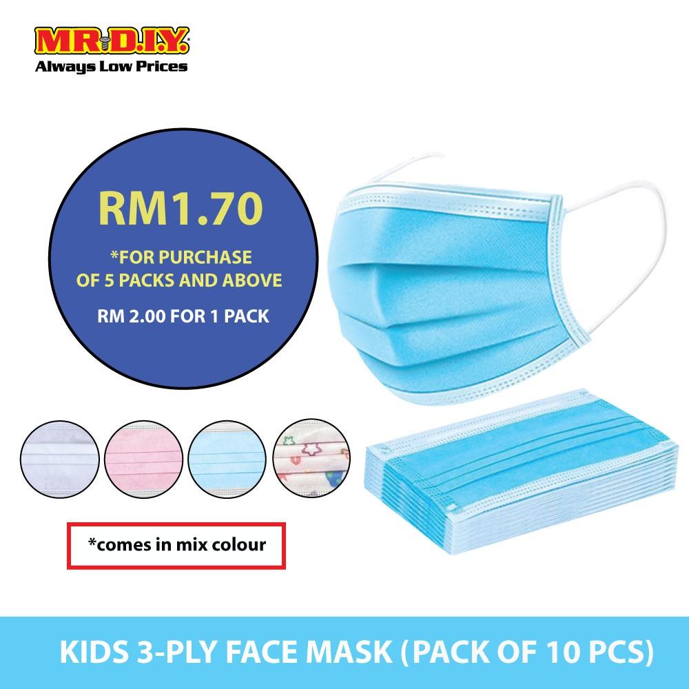 Mr Diy Disposable 3 Layer Filter Kids