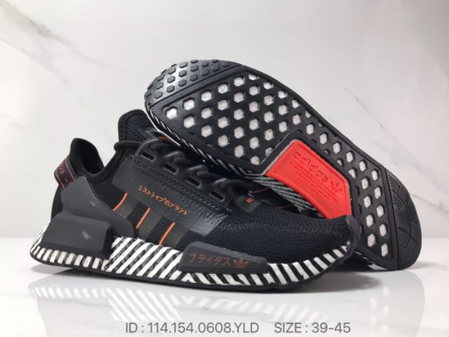 💥Ready stock💥Kasut Adidas Nmd V2 Boost Knit surface Street Style Classic Running Shoes Fashion PREMIUM