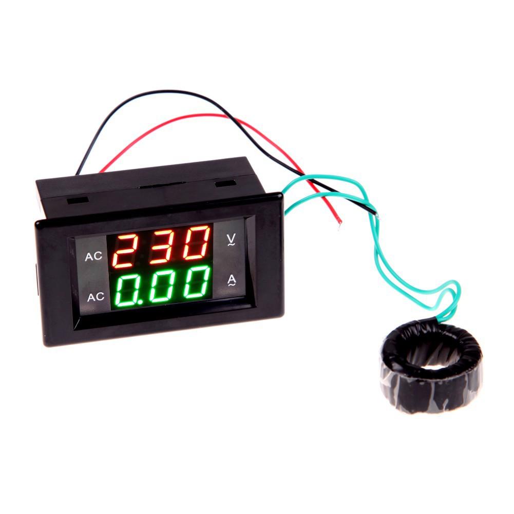 New Digital Voltage Current Panel Meter 0-300V 999mA Ammeter Voltmeter Amps