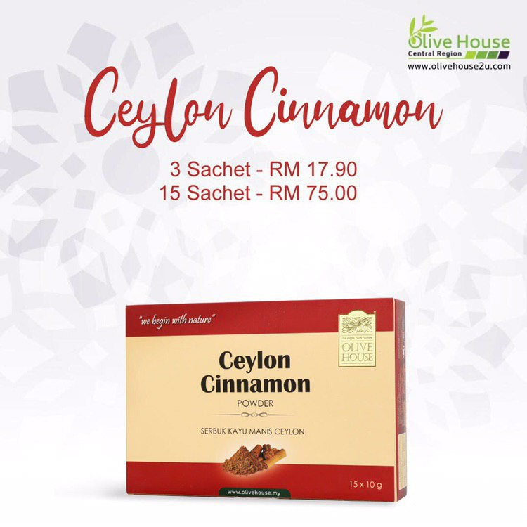 [ HOT SELLING ]Serbuk Kayu Manis Ceylon Cinnamon by OLIVE HOUSE with FREE Shipping