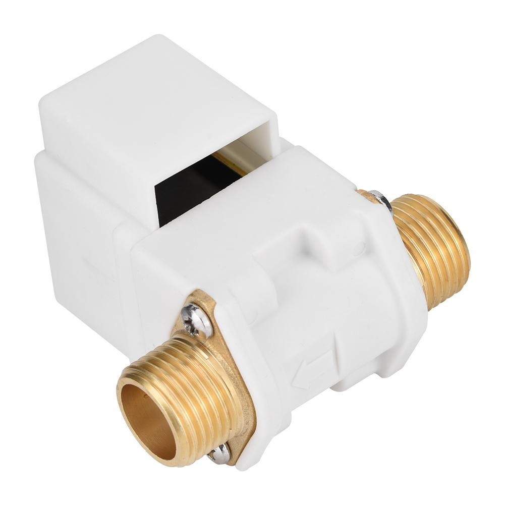 Plastic Solenoid Valve DC 12V Solar Energy Solenoid Valve N//C Electric G1//2 Thread Connection Flow Control Valve