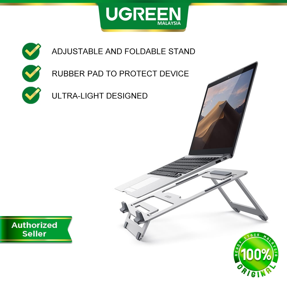UGREEN Laptop Stand Adjustable Laptop MacBook Portable Foldable Laptop Riser Notebook Asus Huawei Dell Hp Lenovo MSI
