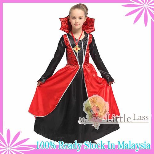 Luxurious Vampire Princess Pretend Play Halloween Costume Party Dress