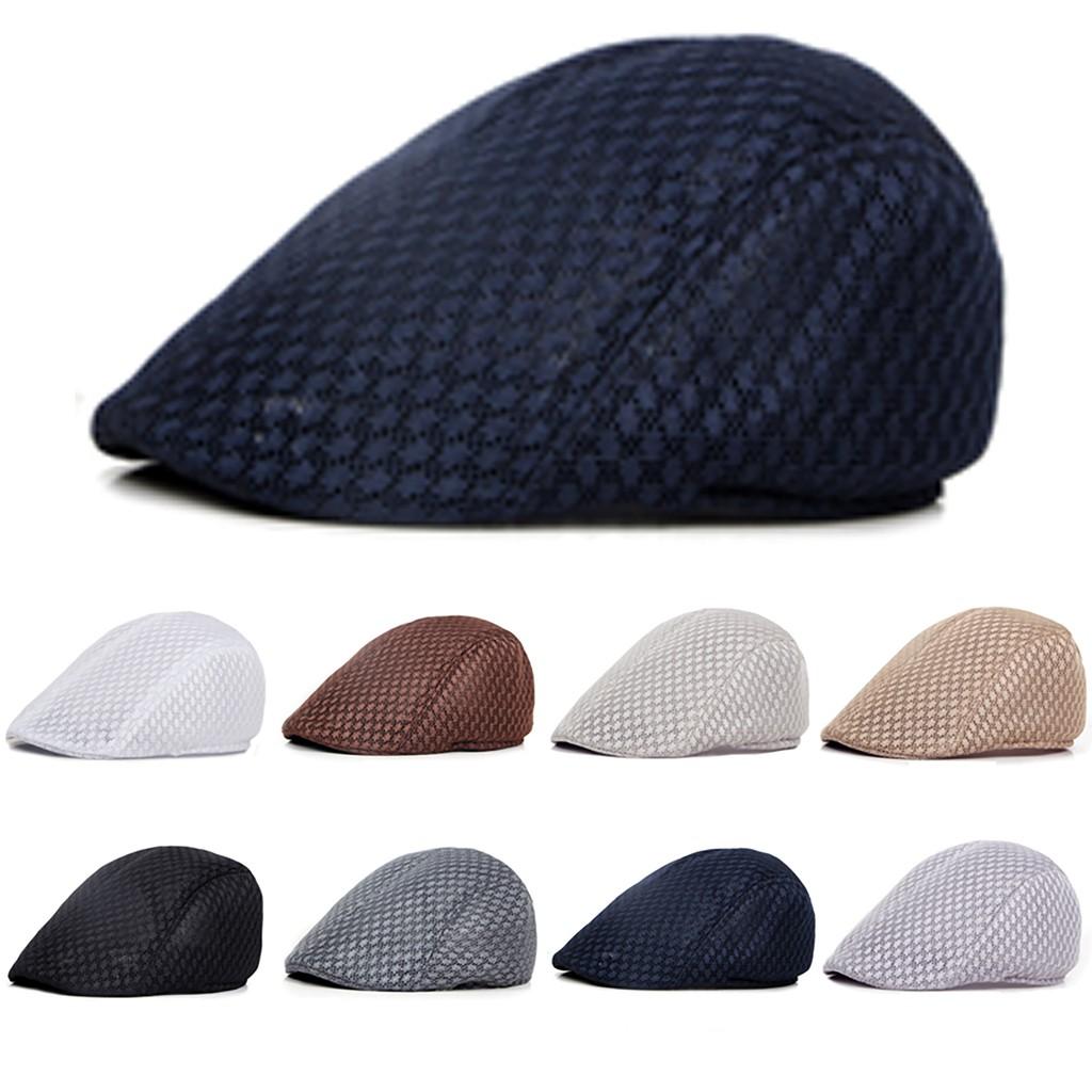 d49dd4715 🍭HP🍭 Newsboy Gatsby Mens Ivy Golf Breathable Mesh Sun Flat Cabbie Beret  Hat