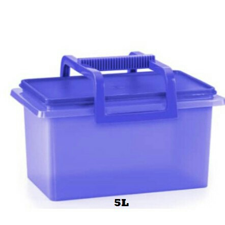 TUPPERWARE BUDDY KEEPER 5L (BLUE) / KEEP AND CARRY WITH HANDLE 10L (PURPLE)