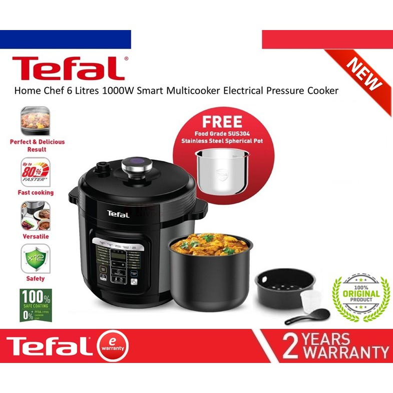 Free Gift Tefal Home Chef Smart Multicooker Electrical Pressure Cooker 6liter Cy601d Simmer Slow Cook Premium Quality Shopee Malaysia