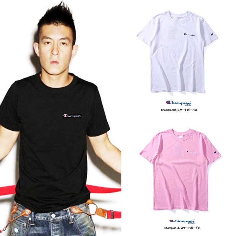 Unisex Champion Off White Cotton Tee Sports Hip-hop Casual T-shirt M-2XL Man