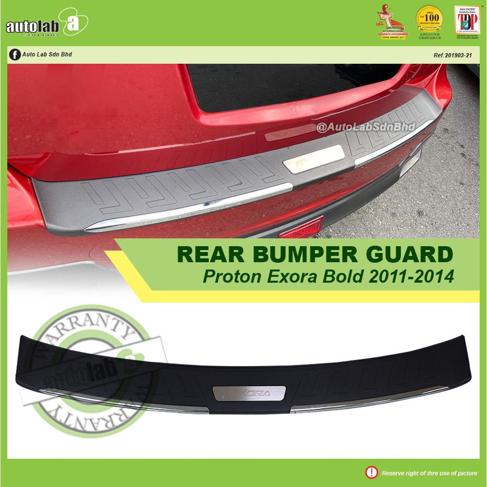 Rear Bumper Guard 3D with Chrome - Proton Exora Bold 2011-2014