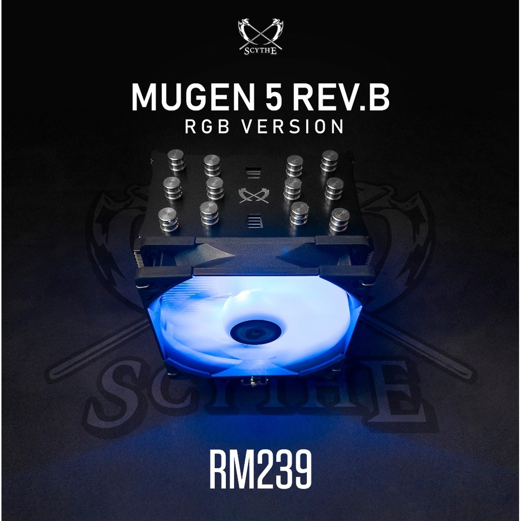 # SCYTHE MUGEN 5 Rev  B BLACK RGB Edition - CPU Air Cooler # 4-pin 12V RGB
