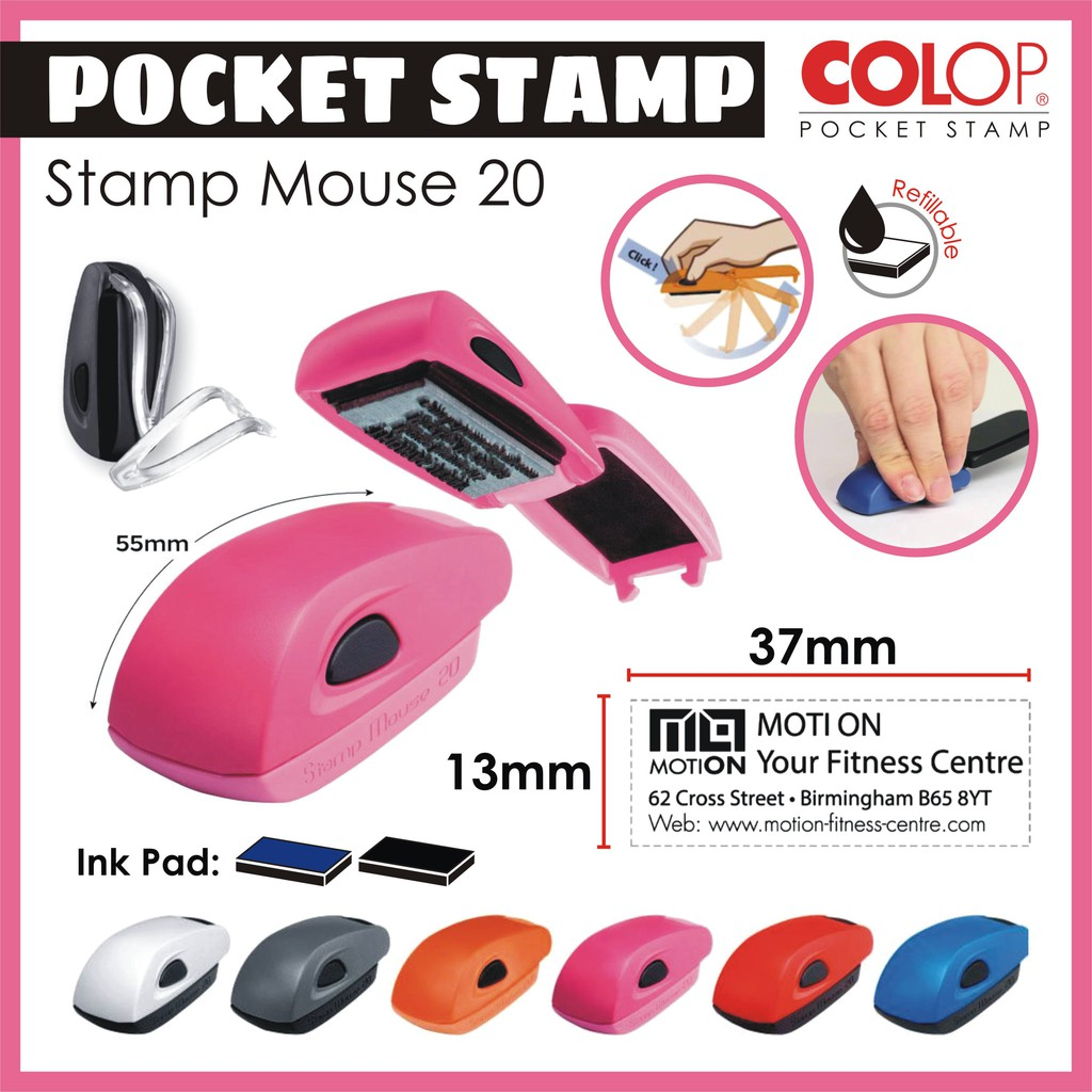 Self-Inking pocket stamp  Stamp Mouse 20