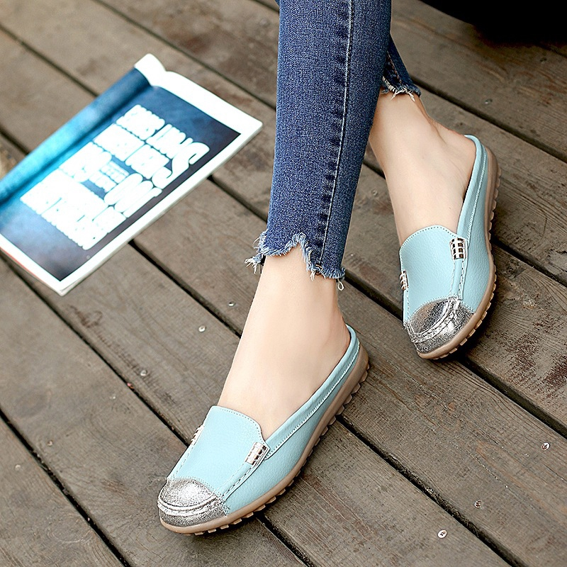14c0fe3cdea31 ProductImage. ProductImage. Autumn Non-slip Peas Shoes Female Baotou Half  Slippers