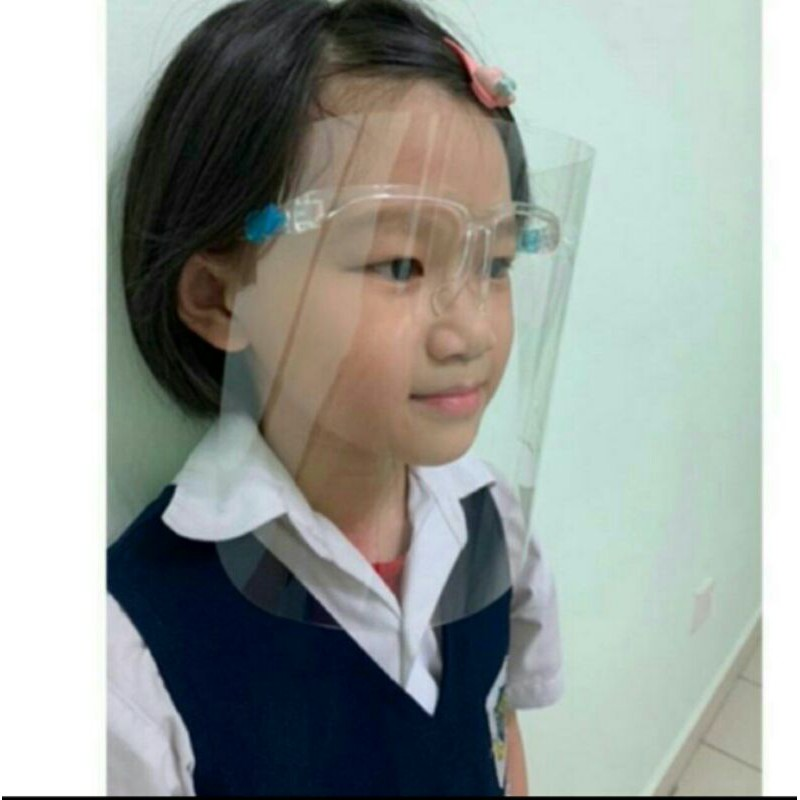 (Ready Stock) Transparent Face Shield Protective with Dustproof and Anti-fog Eyes and Face Protection