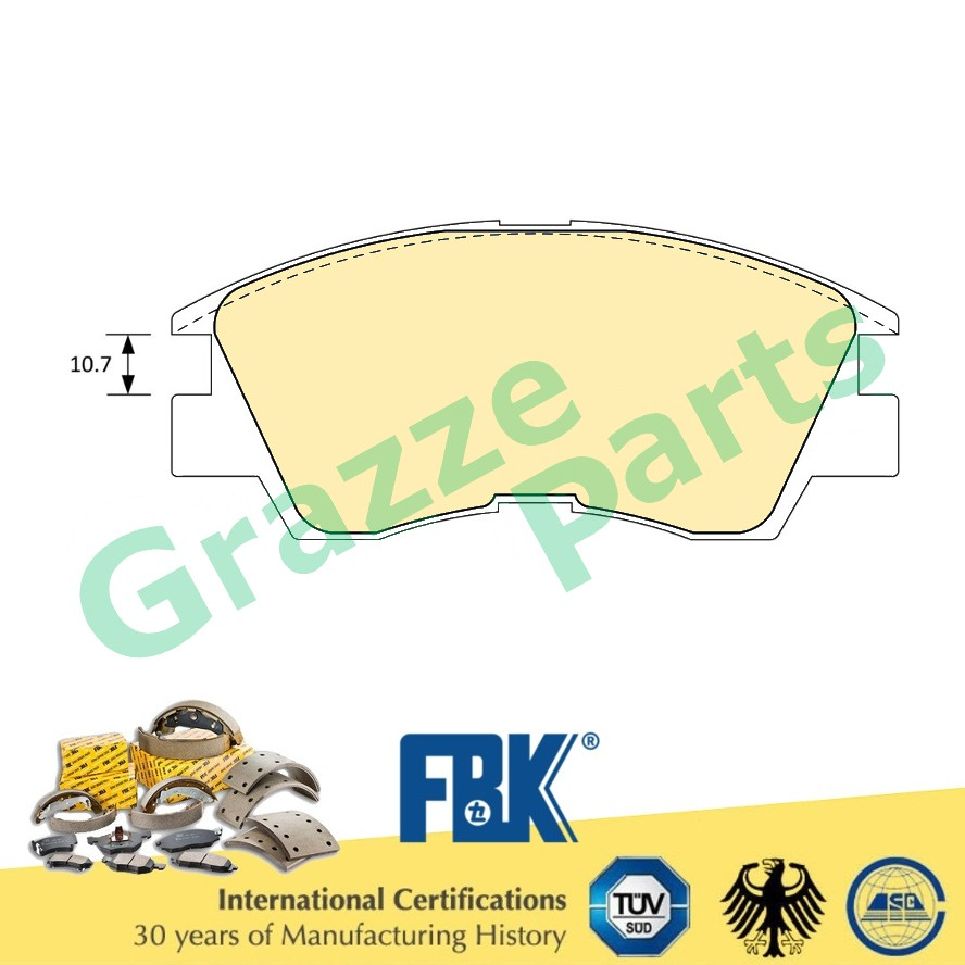 FBK Disc Brake Pad Front for FD6018MS - Mitsubishi Pajero L300