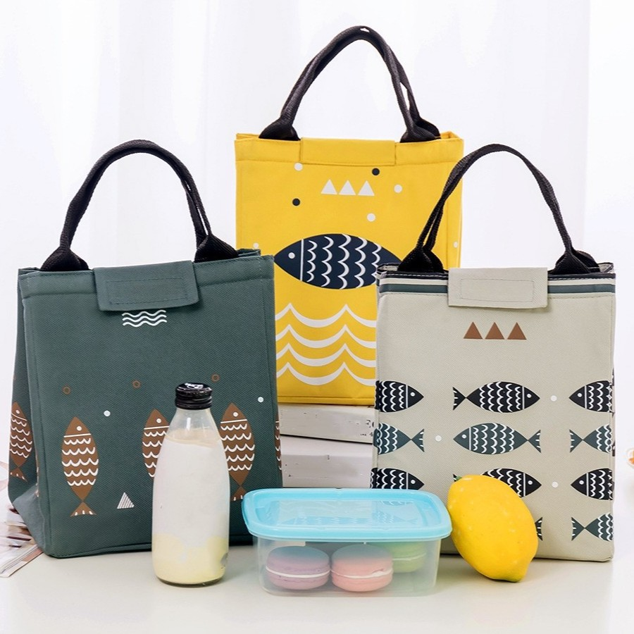 6ce09c403061 Portable Tote Thermal Insulated Lunch Box Bag Waterproof Bento Bag