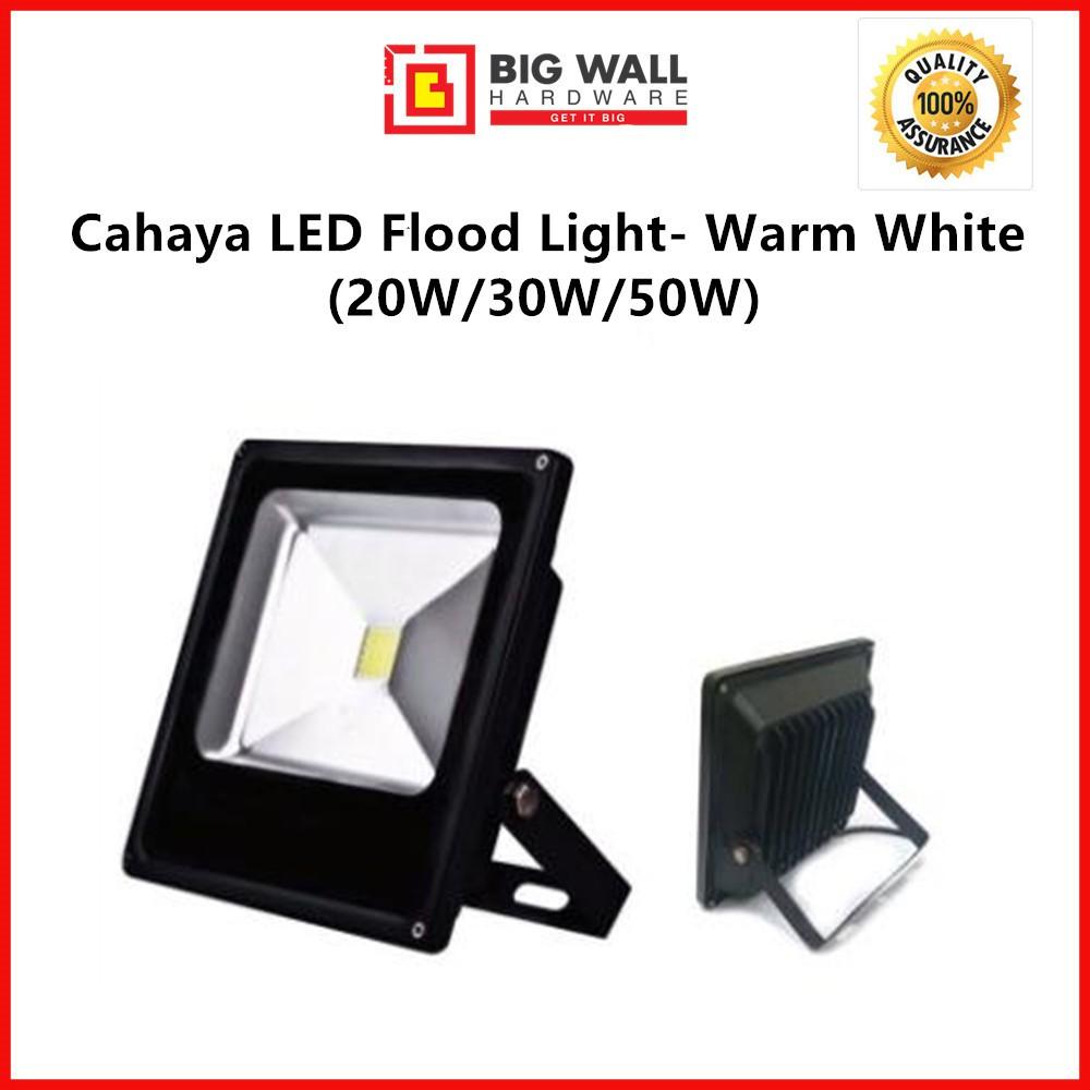 Cahaya LED Flood Light - Warm White ( 20W /30W/50W)