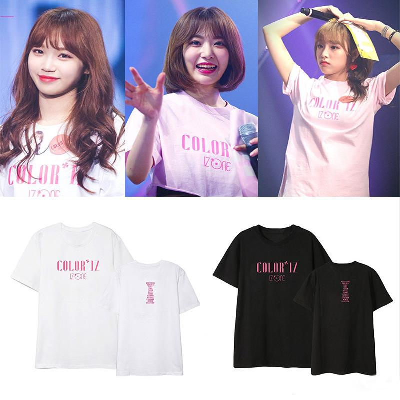 IZONE Debut Album COLORIZ Concert Men and Women Short-sleeved T